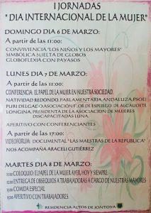 Programa I Jornadas día internacional de la Mujer 2016