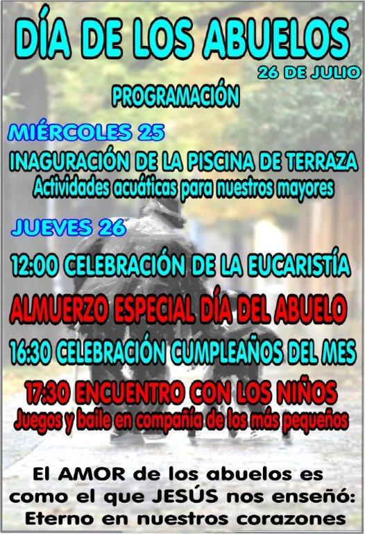 Programa celebración Día de los Abuelos 2018 en residencia Altos de Jontoya