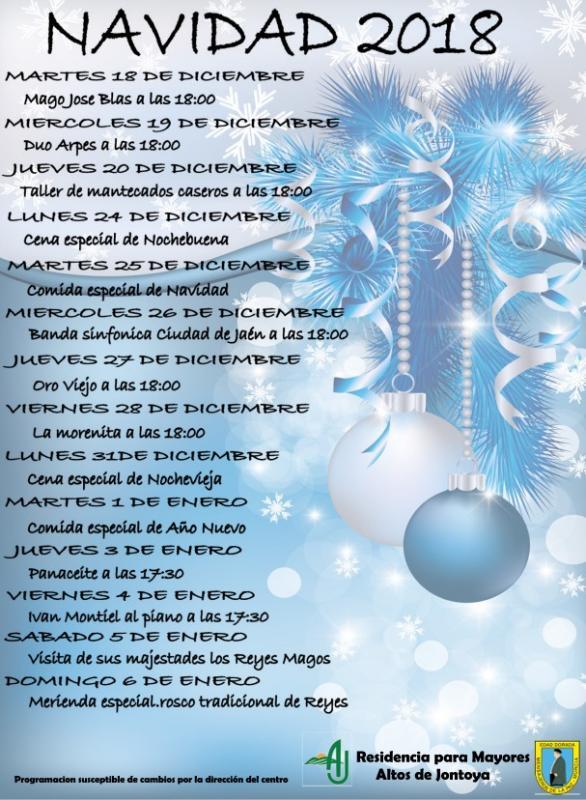 Programa de Navidad 2018 en Residencia Altos de Jontoya
